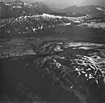 Lateral Glacier, terminus of valley glacier turning into a rock glacier, and bands of rock covering other portions of the (GLACIERS 6602).jpg
