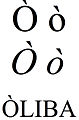 Latin small and capital letter o with grave.jpg