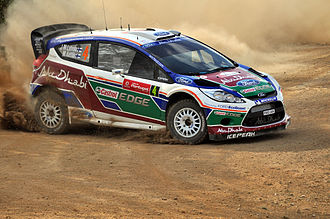 Rally de Portugal - Jari-Matti Latvala with a Ford Fiesta RS WRC at the 2011 Rally de Portugal