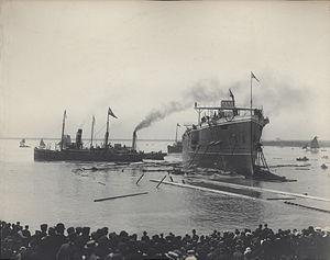 HMS Euryalus (1901) - Launching of HMS Euryalus