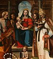 Leonardo Malatesta, Madonna col Bambino tra i santi Pietro, Sebastiano, Cosma, Silvestro e Giovannino, 1518, 05.jpg