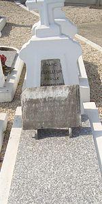 Tombe de Marc Lepilleur, secrétaire de la section socialiste de La Courneuve, fusillé en 1944.