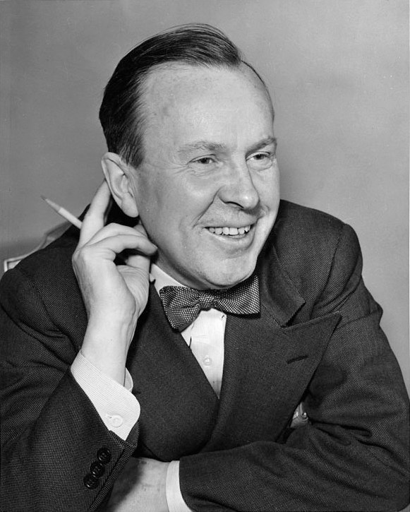 Lester B. Pearson with a pencil