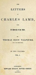 Letters of Charles Lamb