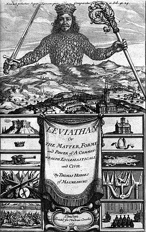 State (polity) - The frontispiece of Thomas Hobbes' Leviathan