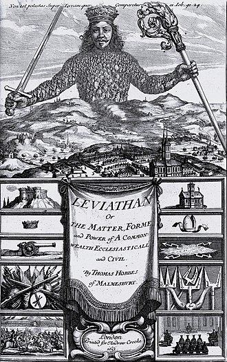 Thomas Hobbes - Frontispiece of Leviathan