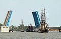Liberty Bridge (Bay City, Michigan) opened for tall ships in 2010.jpg