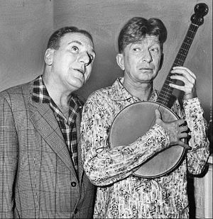 William Bendix - Bendix as Riley with Sterling Holloway, 1957.
