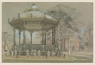 Lightwoods Park and House - Lightwoods Park, Birmingham, Warwickshire by Richard L Young (circ 1940, watercolour)