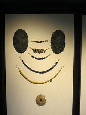 Lilleberge Viking Burial - Viking jewellery and other objects from the grave group.