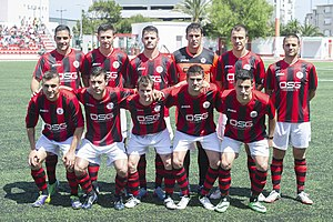 Lincoln Red Imps F.C. - Image: Lincoln Red Imps squad, May 2014