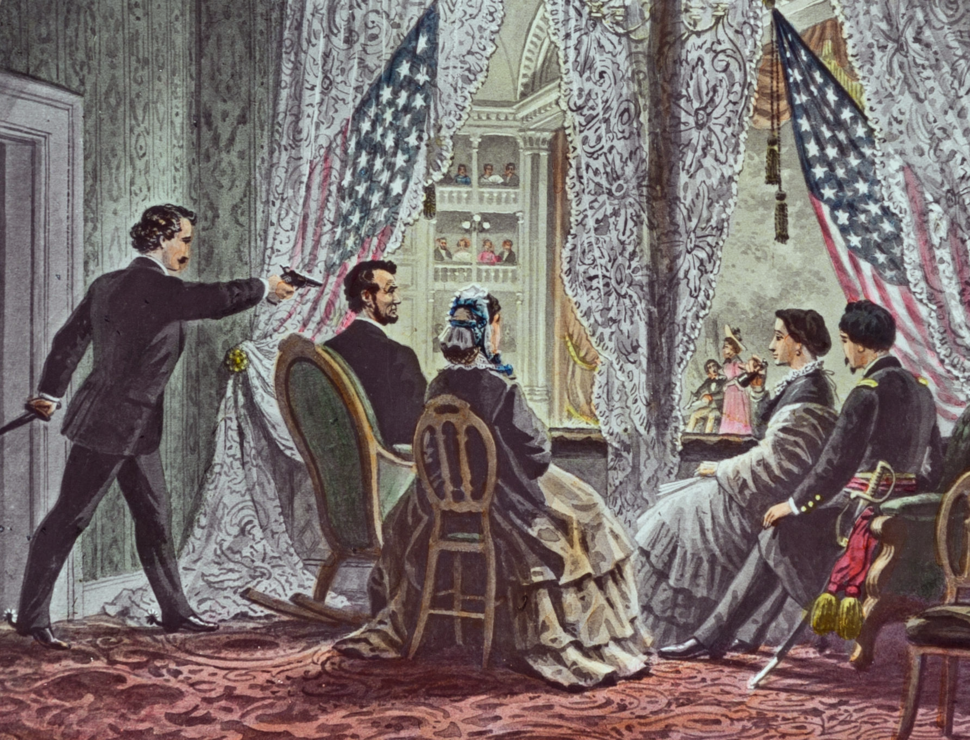 Lincoln assassination slide c1900 (cropped)
