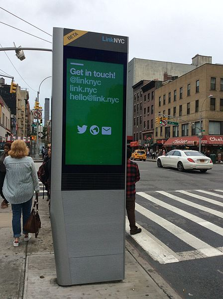 File:LinkNYC kiosk at 23rd and 8th.jpg