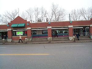 Lions Park station - View of the station on 14 Ave NW