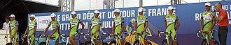 La presentazione della squadra Liquigas-Doimo in gara al Tour de France 2010