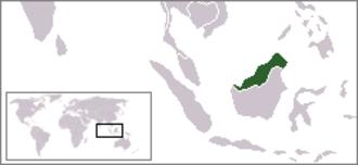 North Borneo Federation - Image: Location North Borneo Federation