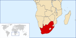 Location of Republic of South Africa