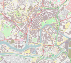 Location of Queen Square in Central Bristol