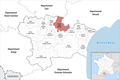 Locator map of Kanton Le Haut-Minervois 2019.png