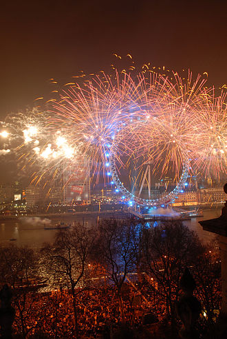 Jack Morton Worldwide - Fireworks at the London Eye on New Year's Eve.