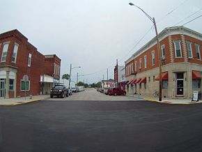 Looking down West Main Street from U.S. 231