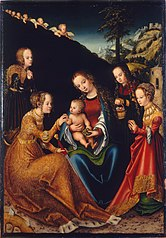 The Mystic Marriage of Saint Catherine of Alexandria with Saints Dorothy, Margaret and Barbara
