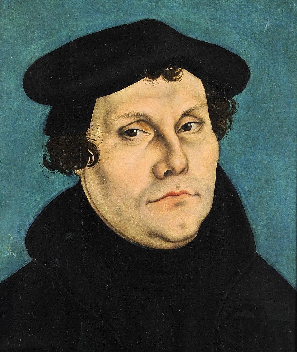 Lucas Cranach d.Ä. - Martin Luther, 1528 (Veste Coburg) (cropped)