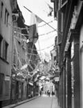 Lucien Blumer Strasbourg 14 juillet 1919 fête nationale rue des frères pavoisée de drapeaux.png