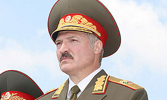 Commander-in-chief - President Alexander Lukashenko wearing the official uniform of the Commander-in-Chief of the Armed Forces of Belarus.