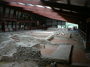 Lullingstone Roman Villa - The enclosed interior of Lullingstone Villa