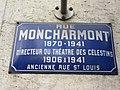 Lyon 2e - Rue Montcharmont - Plaque 2 (mars 2019).jpg
