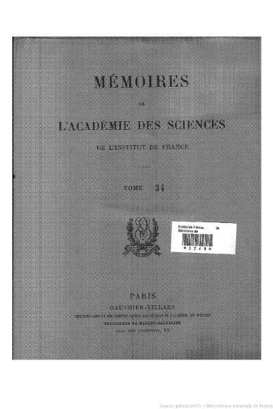 File:Mémoires de l'Académie des sciences, Tome 34.djvu