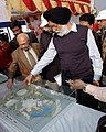 M.S. Gill reviewing the progress of construction work of Indira Gandhi Indoor Stadium being prepared for Commonwealth Games – 2010, in New Delhi on January 27, 2009.jpg