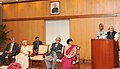 M. Hamid Ansari addressing the gathering after releasing the book on Patriots, Poets and Prisoners Selections from Ramananda Chatterjee's 'The Modern Review 1907-1947,' edited by Shri Anikendra Sen.jpg