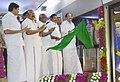 M. Venkaiah Naidu and the Chief Minister of Tamil Nadu, Shri Edappadi K. Palaniswami jointly flagging off the Chennai Metro Rail from Thirumangalam to Nehru Park, at Thirumangalam Metro Station, Chennai.jpg