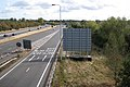 M40 westbound approaching junction 15 near Warwick - geograph.org.uk - 1521780.jpg