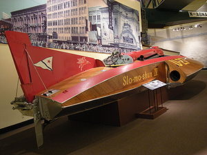 Water speed record - Slo-Mo-Shun IV on display at Seattle's Museum of History and Industry.