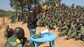 Security sector governance and reform - The UN peacekeeping operation in the Democratic Republic of the Congo (MONUSCO) providing security sector reform assistance by sensitizing fresh armed forces recruits to civic education and behavioral change