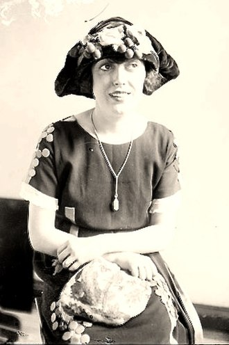 Tam cap - Mabel Normand wearing a tam design in 1921