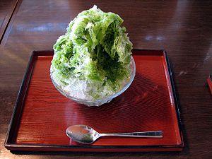Kakigōri - Image: Macha kakigori snow cone