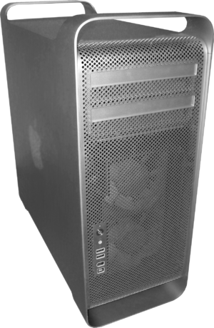 Mac Pro Distinguished from Power Mac G5 by its...
