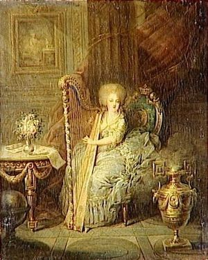 Élisabeth of France (1764–1794) - Madame Elisabeth with harp