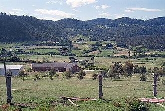 Magra, Tasmania - Magra area, looking north