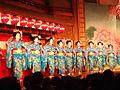 Maikos dancing at Miyako odori.jpg