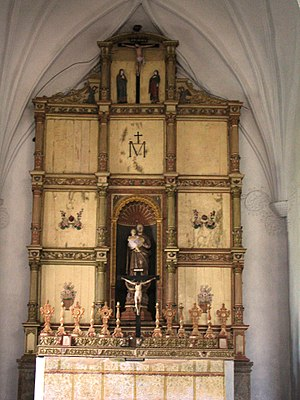 Church of Our Lady of the Rosary (Goa) - Main altar of the Church of Lady of Rosary.