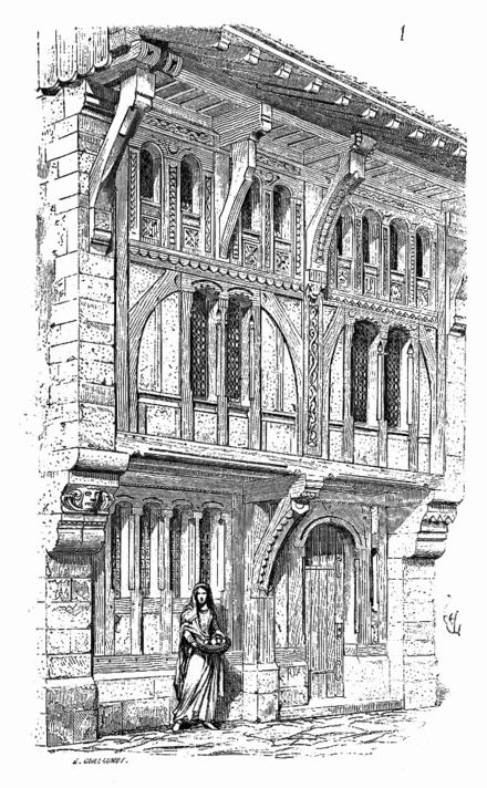 Dictionnaire raisonn de l architecture fran aise du xie - Dessin de maison en bois ...