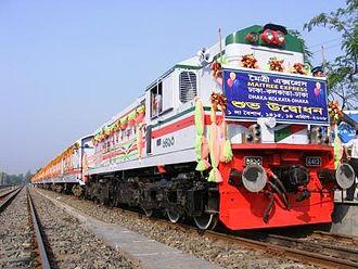 Maitree Express - Inaugural of Maitree Express train of the Bangladesh Railway (2008 April 14), at Dhaka Cantonment.