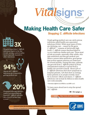 Making Health Care Safer-CDC Vital Signs