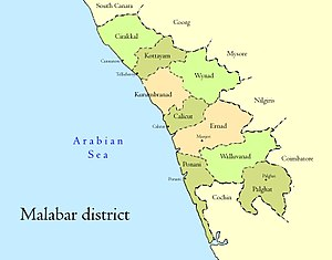 Malabar District - Malabar district and taluks