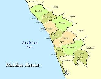 Malabar District - Malabar district and taluks
